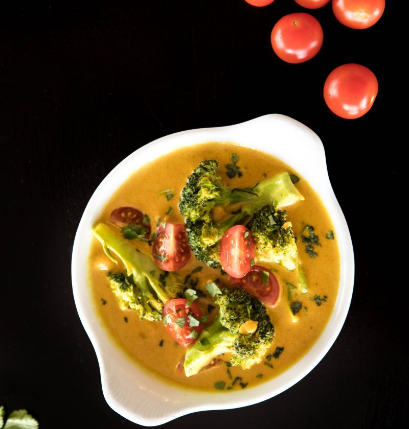 Broccoli and Chickpea Coconut Curry - Home Cooked heroes