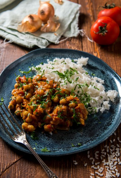 Chickpea Curry - Vicky Godfrey - Home Cooked Heroes